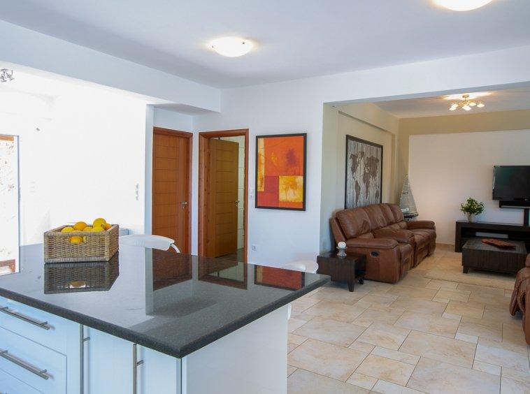 Villa open plan living area